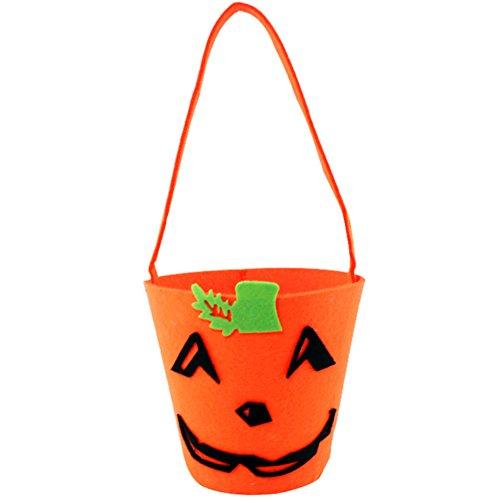 LAAT Halloween Kürbis Tasche Kinder Mini Süßigkeiten Tote Kinder Geschenke Süßigkeiten Taschen Handtaschen für Kinder oder Kostüm Party (Orange 4)