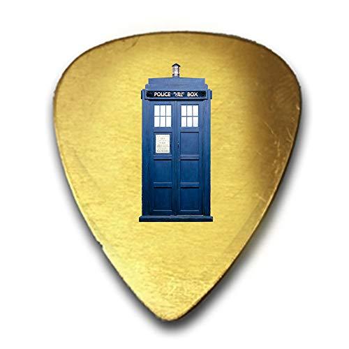 Tardis Blaue Telefonzelle TV Show Parodie - 3D Farbe bedruckte Gitarre und Bass Plektrum, Geschenk, Messing - Telefonzelle Telefon