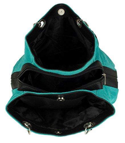 Girly Handbags ,  Damen Schultertasche türkis