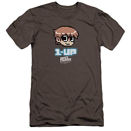 Scott Pilgrim - - Männer Premium Slim Fit T-Shirt, Small, Charcoal
