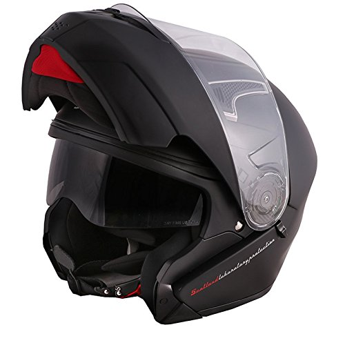 Scotland Force 02.2 Casco Moto, Nero Opaco, Taglia XL (61/62 cm)