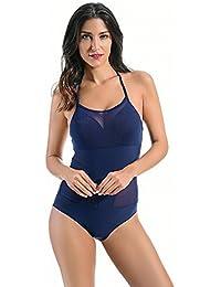 Sinedoly Bikini bañador nuevo triángulo confluyentes Bikini bañador color puro,negro,S