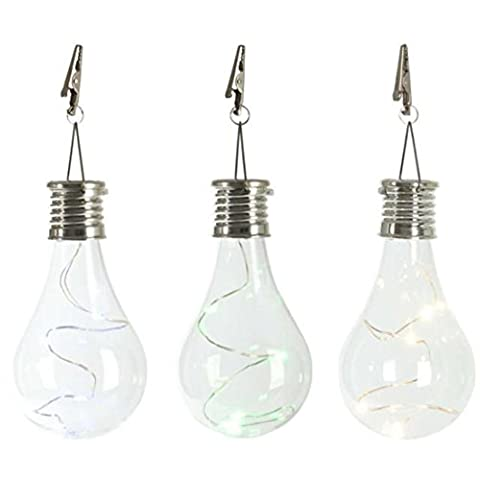 hkfv Waterproof solaire Rotatable Outdoor Garden Camping Hanging LED Light Lamp Bulb (Clear)