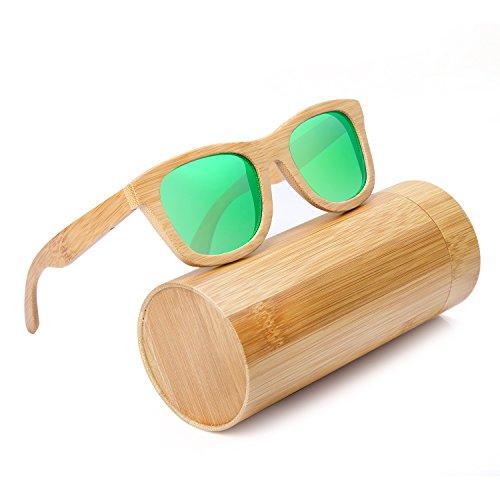 f280b2d1d44 2017 Luxury Handmade Bamboo Wooden Sunglasses UV Eyewear Accessories For  Unisex Men Women Square Outdoor Sunglass (green) - Buy Online in Oman.