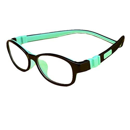 Juleya Kinder Gläser Rahmen - Silikon - Professionel Kinder Brillen Clear Lens Retro Reading Eyewear für Mädchen Jungen - 180710ETYJJ03