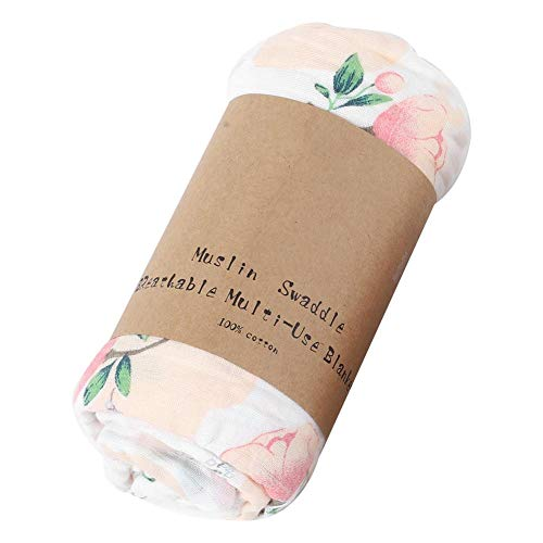 weck-Double Layer Cotton Swaddles Quilt Wrap Blanket(Blume) ()