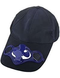 Solar Powered Air Cooling Fan 2F Baseball Hat with Solar Panel