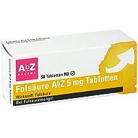 Folsäure 5 mg AbZ Tabletten, 50 St. preisvergleich bei billige-tabletten.eu