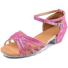 SWDZM Niñas Estándar de Zapatos de baile latino Satén Ballroom ... 524c08651e6