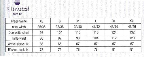 Bügelfreies Herren Slim Fit Hemd in verschiedenen Farben, Marke REDMOND (400130) Grau(79)