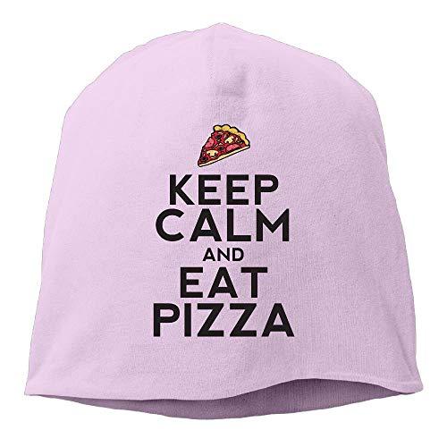 UUOnly Männer und Frauen bleiben ruhig und Essen Pizza warm Stretchy Daily Beanie Hat Skull Cap Outdoor Winter