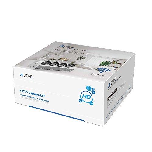 A-ZONE 4 Kanal Funk Überwachungskamera Set - 8