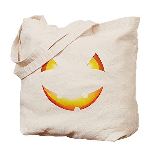 CafePress Cute Halloween Kürbis Jack O Lantern Tragetasche, canvas, khaki, S (Halloween-jack Niedliche O Lanterns)