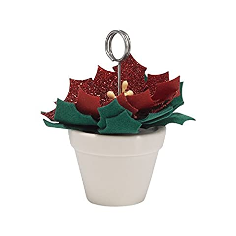 Classic Poinsettia Pot Place Card Holder