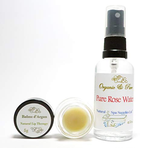 Baume pour les lèvres à l'argan et eau de rose - Le traitement ultime pour les lèvres sèches et gercées