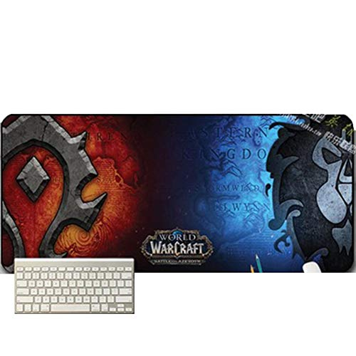 Oversized Gaming Mouse Pad, Thick Cartoon Anime Mat / Keyboard Pad, World of Warcraft WOW / LOL / League of Legends / DOTA2 / Sword III / DNF, 700x300x3mm, 900x400mm (Pad Anime Mouse)