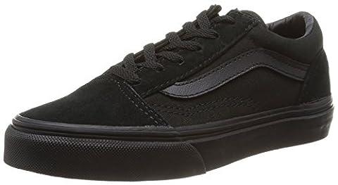 Vans Old Skool, Sneakers Basses mixte enfant, Noir (Blk/Blk), 34.5 EU