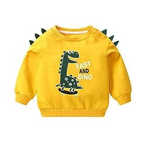 K-Youth Sudadera Niño para 1-6 años Estampado de Dinosaurio Chandal Bebe Niño Invierno Ropa Bebe Niño Abrigo Bebe Niña… 9