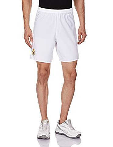 adidas Real Madrid Domicile Replica Short Garçon White/Clear Grey FR : 8 ans (Taille Fabricant : 8 ans)