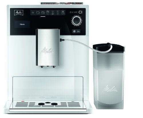 Melitta E 970-102 weiß Kaffeevollautomat Caffeo CI –One-Touch-Funktion –LCD-Display -Milchbehälter