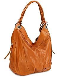 3e6ca3deae7ab Belli ital. Nappa Leder Shopper Handtasche Damentasche Ledertasche -  Farbauswahl - 35x31(mittig) x17 cm (B x H x…