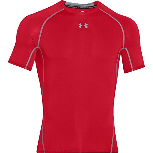 Under Armour Herren Heatgear Fitness Funktionsshirt, Rot, M