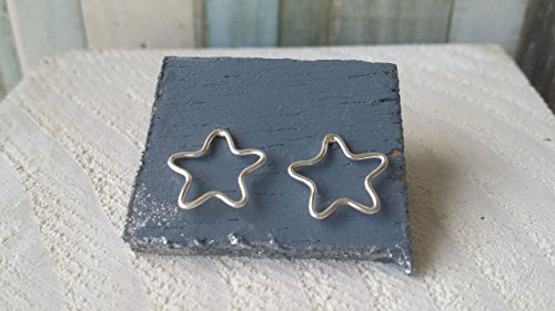 Pendientes de plata fina 925 estrellas