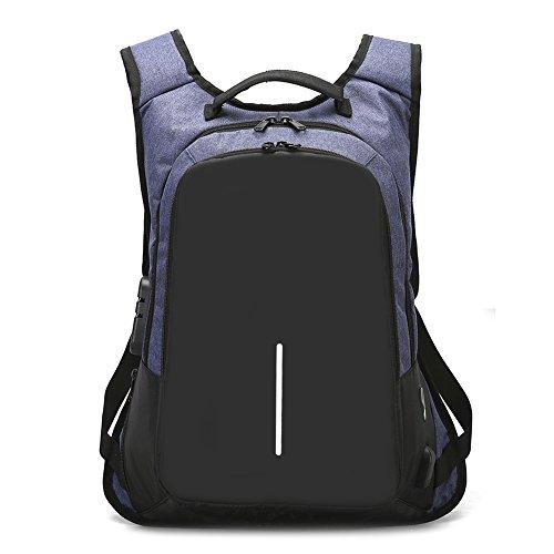 DSJJ Unisex Multiuso Antifurto Zaino con porta USB, Zaino Per PC Portatile da uomo borsa universitaria daypack Per La Scuola Scuola,Business