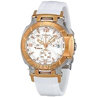 Tissot T-Race – Reloj (Reloj de Pulsera, Masculino, Acero Inoxidable, Oro, Acero Inoxidable, Silicona, Blanco)