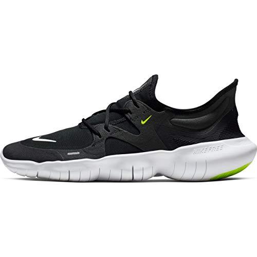 Nike Free Rn 5.0, Herren Laufschuhe, Schwarz (Black/White-Anthracite-Volt 003), 46 EU (11 UK) (Nike Tennis-schuhe Der Schwarzen Männer)