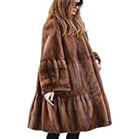 Aofur Women s Casual Thick Faux Fur Outdoor Trench Coat Winter Warm Long  Jacket Parka Overcoat Oversize 6a46364ed