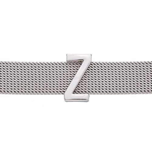 GD GOOD.designs EST. 2015 Buchstaben Charms Anhänger für Mesh Armband in Roségold, Charmband für Damen (Silber Buchstabe Z)