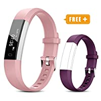 TOOBUR Fitness Tracker Watch for Kids Women Men, Pedometer, Calorie Counter, Step Counter Watch,Slim Waterproof Activity Tracker with Sleep Monitor and Vibrating Alarm Clock (2019 New Edition)
