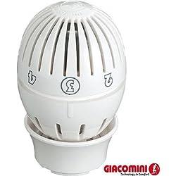 Giacomini R470 tête thermostatique à soufflet clip clap