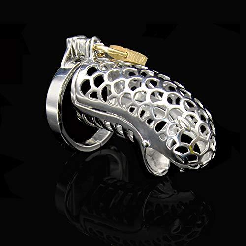 Q-XX Keuschheitskäfig,Peniskäfig, Keuschheitskäfig mit 3 SM-Sprengringen (Silber) (größe : 43mm) - Elektro-schlangen