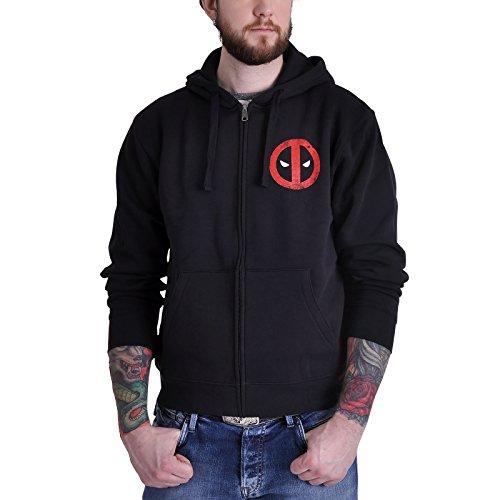 Felpa con cappuccio Deadpool motivo Comic Logo nero - M