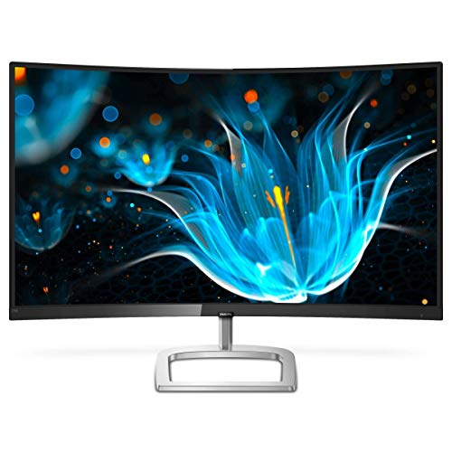 Philips 278E9QJAB Gaming Monitor Curvo LED da 27', Freesync 75 Hz, Full HD 1920 x 1080, Pannello VA, 4 ms, HDMI, Display Port, VGA, Casse Audio Integrate, Flicker Free, Low Blue Light, VESA, Nero