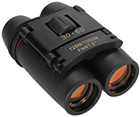 PIA INTERNATIONAL 30X60 Foldable Binoculars with Strap and Pouch(Sakura)