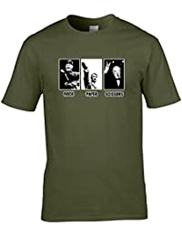 ROCK PAPER SCISSORS- World War Two Leaders - Funny Men's T-shirt from Ice-Tees