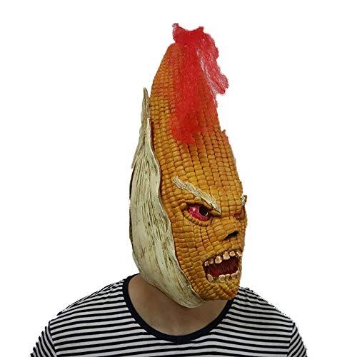 Yiqiane Halloween Maispflanze Maske, erschreckende Vollmaske Kostüme Zubehör für Halloween Party Cosplay, Bar, Karneval, Festival Party (Halloween Kostüm Fantome)