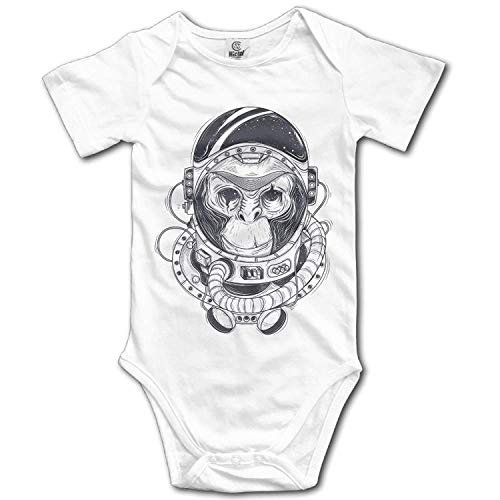 TKMSH Unisex Baby's Climbing Clothes Set Monkey Astronaut Bodysuits Romper Short Sleeved Light Onesies for 0-24 Months Monkey Infant Bodysuit