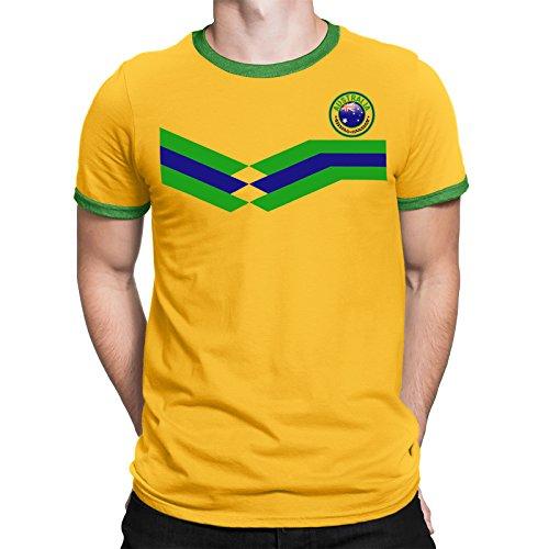 Tee Spirit Australia Camiseta Para Hombre World Cup 2018 Fútbol New Style  Retro 52e28d840