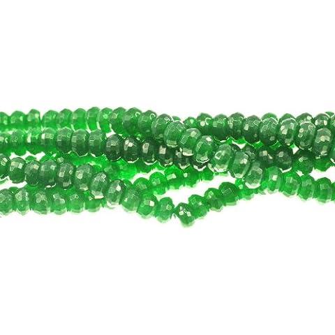 Jade, tinti, verde fac. Rondell 8mm, ciocca ca 40cm, ca. 82pezzi