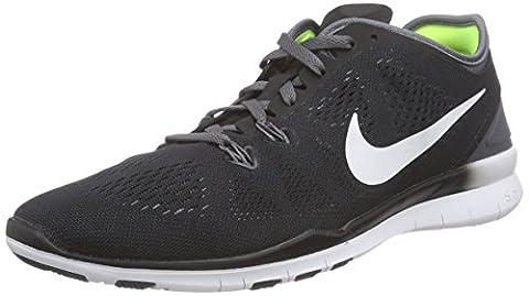 Nike Free 5.0 TR Fit 5, Damen Hallenschuhe, Schwarz (Black/Dark Grey/White 004), 37.5 EU