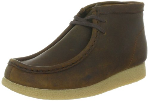 Clarks WallabeeBt Boy 203497387 Jungen Sneaker Braun (Brown Waxy)
