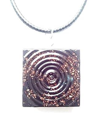 Pendentif Orgone Spiral Cube, protection EMF, énergie positive