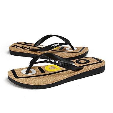 Slippers & amp da uomo;Primavera Estate Autunno Comfort Light SolesOutdoor piano casuale HeelWalking Sh sandali US7.5 / EU39 / UK6.5 / CN40