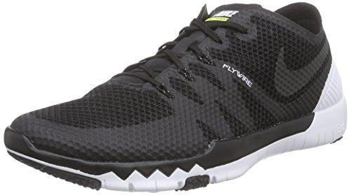 Nike Free Trainer 3.0 V3, Herren Hallenschuhe, Schwarz (Black/Black-White 001), 42 EU (Nike-4 V3)