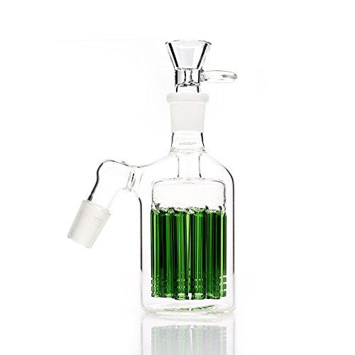 REANICE Zubehör Glas Bong teile 18.8mm Gemeinsame Bong Kopf Glas Rohr Filter glas wasser bong bubbler ash fänger bong schalen dia schüssel herb inhaber mit Multi pipeline filterelement grün (Bubbler-rohr)