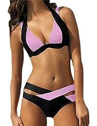 Ninimour Traje de Baño Dos Piezas Bikini Sets Cuello Hálter Swimsuit